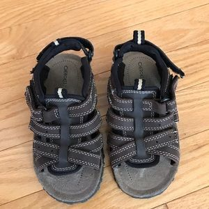 CHEROKEE BOYS SIZE 9 LEATHER UPPERS SANDALS Brown